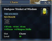 Darkpaw Trinket of Wisdom
