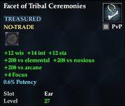 Facet of Tribal Ceremonies
