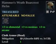Hammer's Wrath Boarcrest Helm