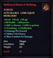 Hollowed Band of Striking