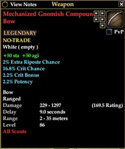 Mechanized Gnomish Compound Bow