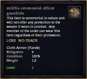 Militia ceremonial officer gauntlets
