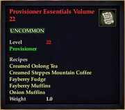 Provisioner Essentials Volume 22