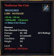 Thullosian War Club