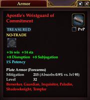 Apostle's Wristguard of Commitment
