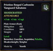 Carbonite Vanguard Sabatons