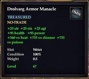 Drolvarg Armor Manacle