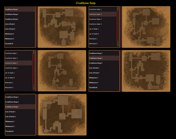 Dungeon Maker Crushbone Keep Maps