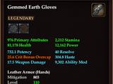 Gemmed Earth Gloves