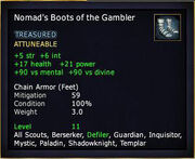 Nomad's Boots of the Gambler