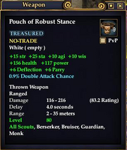 Pouch of Robust Stance
