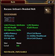 Recuso Artisan's Braided Belt