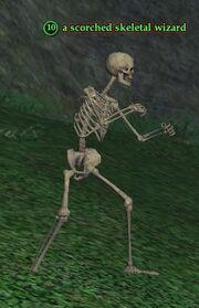 Scorched skeletal wizard