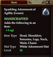 Sparkling Adornment of Agility (Lesser)