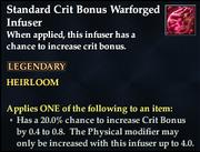 Standard Crit Bonus Warforged Infuser