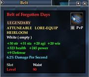 Belt of Forgotten Days