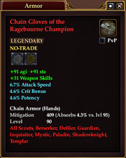 Chain Gloves of the Ragebourne Champion