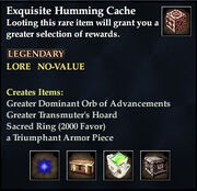 Exquisite Humming Cache