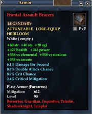 Frontal Assault Bracers