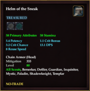 Helm of the Sneak