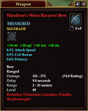 Wanderer's Worn Recurve Bow
