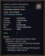 Yellow-saddled Rujarkian Destrier horse whistle