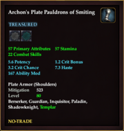 Archon's Plate Pauldrons of Smiting