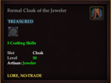 Formal Cloak of the Jeweler