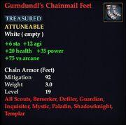 Gurndundl's Chainmail Feet