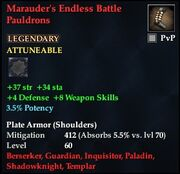 Marauder's Endless Battle Pauldrons