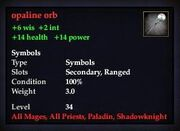 Opaline orb