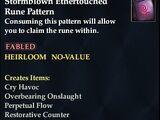 Stormblown Ethertouched Rune Pattern