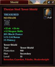 Thexian Steel Tower Shield