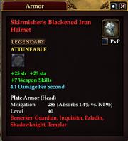 Skirmisher's Blackened Iron Helmet