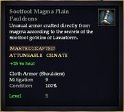 Sootfoot Magma Plain Pauldrons