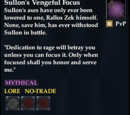 Sullon's Vengeful Focus