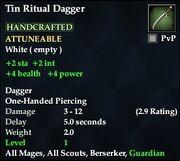 Tin Ritual Dagger