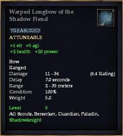 Warped Longbow of the Shadow Fiend