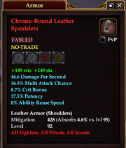 Chrono-Bound Leather Spaulders