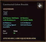 Constructed Golem Bracelet
