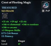 Crest of Fleeting Magic