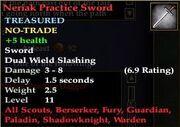 Neriak Practice Sword