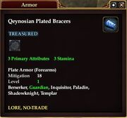 Qeynosian Plated Bracers
