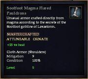 Sootfoot Magma Flared Pauldrons