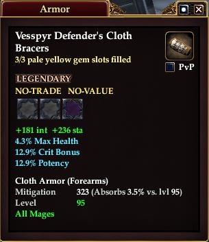 Vesspyr Defender's Cloth Bracers (3 of 3)