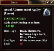 Astral Adornment of Agility (Lesser)