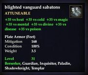 Blighted vanguard sabatons