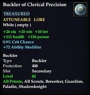Buckler of Clerical Precision