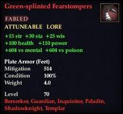 Green-splinted Fearstompers