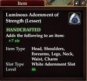 Luminous Adornment of Strength (Lesser)